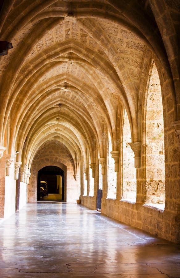 Monastery interior stock image