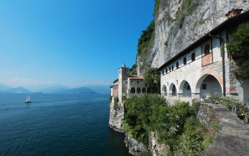 Monastery at Italian Lake Maggiore royalty free stock image