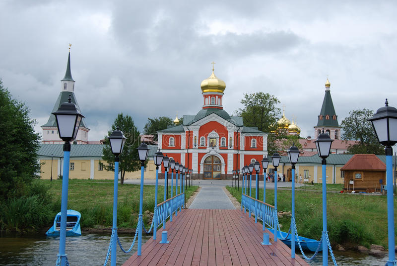 The Monastery of the Iverskaya Icon royalty free stock photo