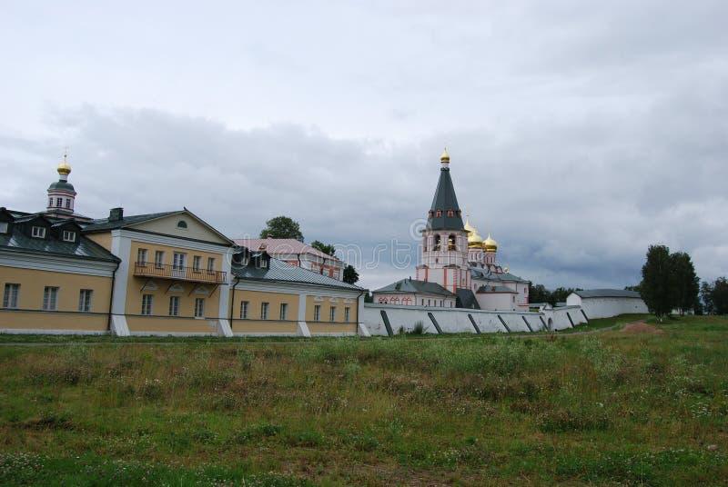 The Monastery of the Iverskaya Icon stock photography
