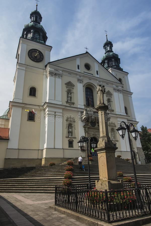 Monastery of Kalwaria Zebrzydowska, and the UNESCO world heritage site in Lesser Poland royalty free stock photography