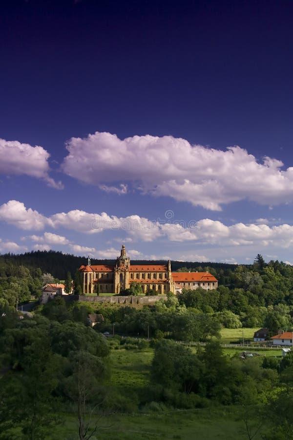 The monastery Kladruby stock photography