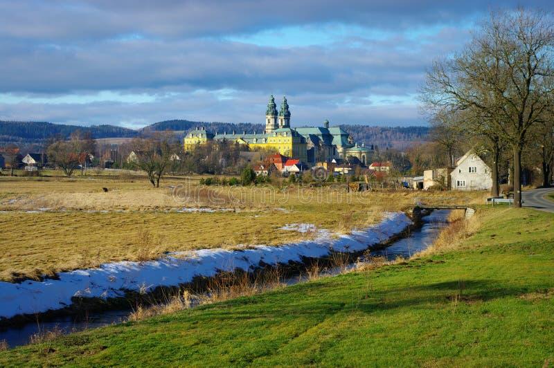 Monastery in Krzeszow, Poland stock photography