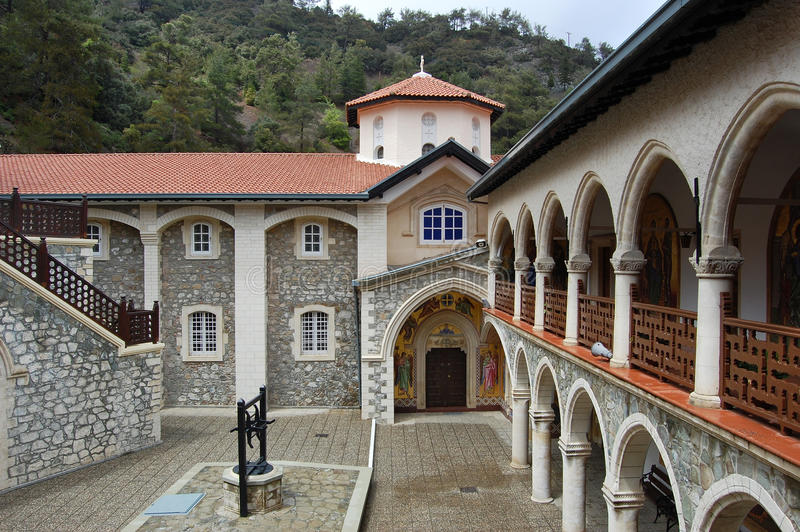 Monastery Kykkos in Cyprus, Troodos mountains. stock image