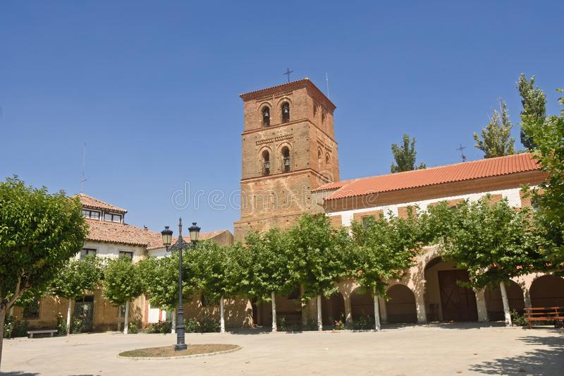 Monastery of Manasterio de la Vega, Tierra de Campos, Valladolid province, Castilla and Leon, Spain stock photo