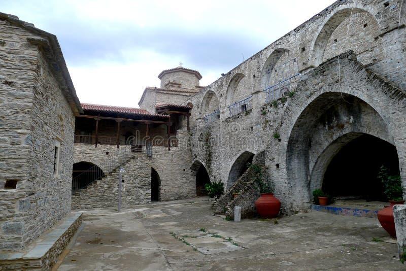 Monastery Megali Panagia, Samos, Greece stock images