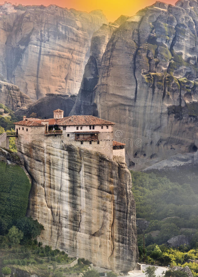 Monastery at Meteora in Greece royalty free stock photo
