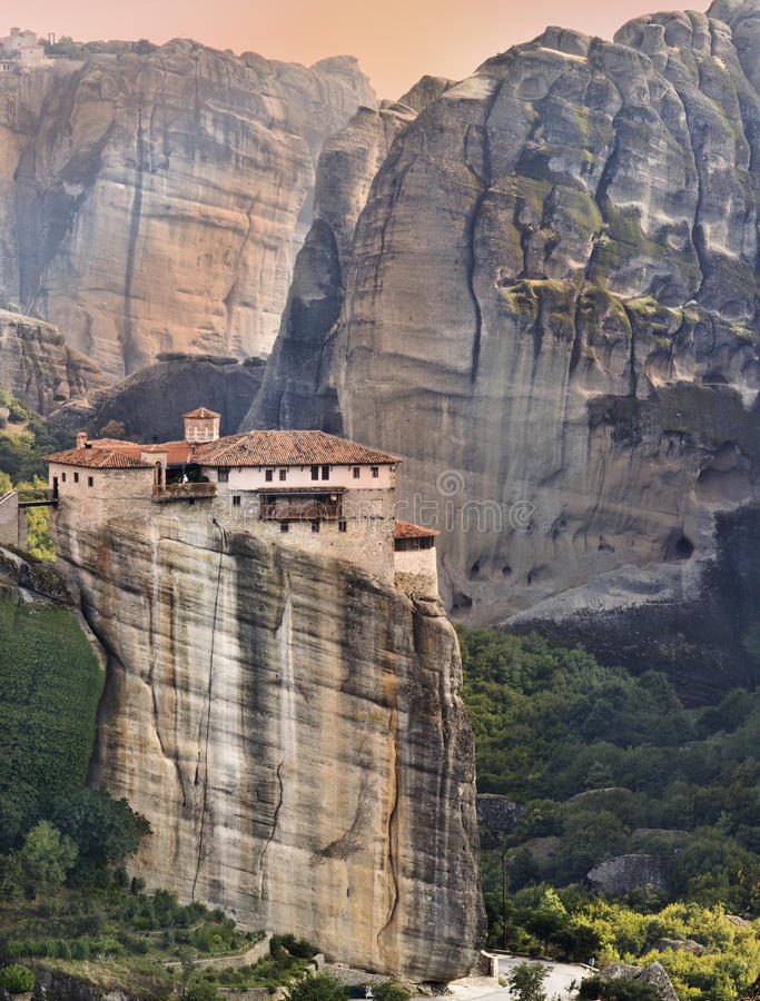 Download Monastery At Meteora In Greece Stock Image - Image of christian, culture: 26552759