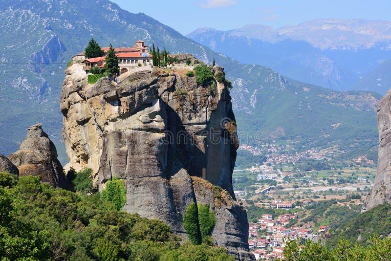Monastery in Meteora, Greece. stock images