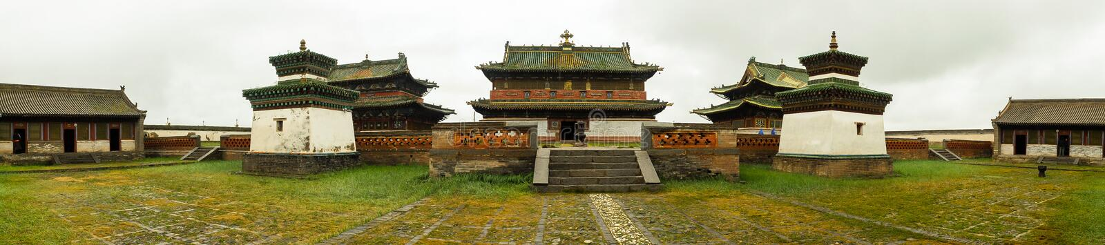 Monastery in Mongolia royalty free stock photography