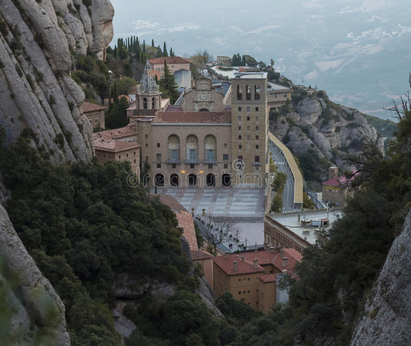 Monastery Montserrat royalty free stock photo