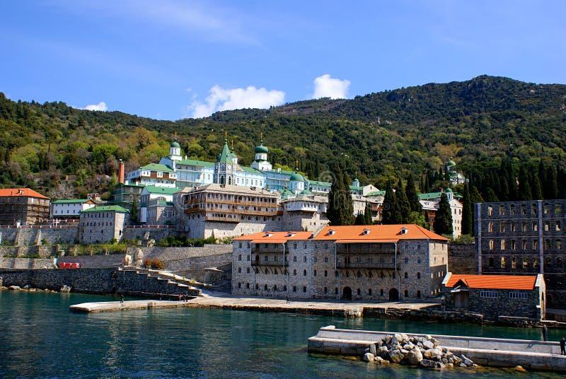 Monastery on Mount Athos stock image