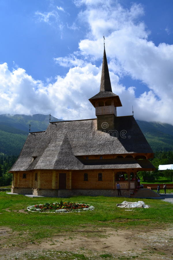 Monastery in the mountains stock photo