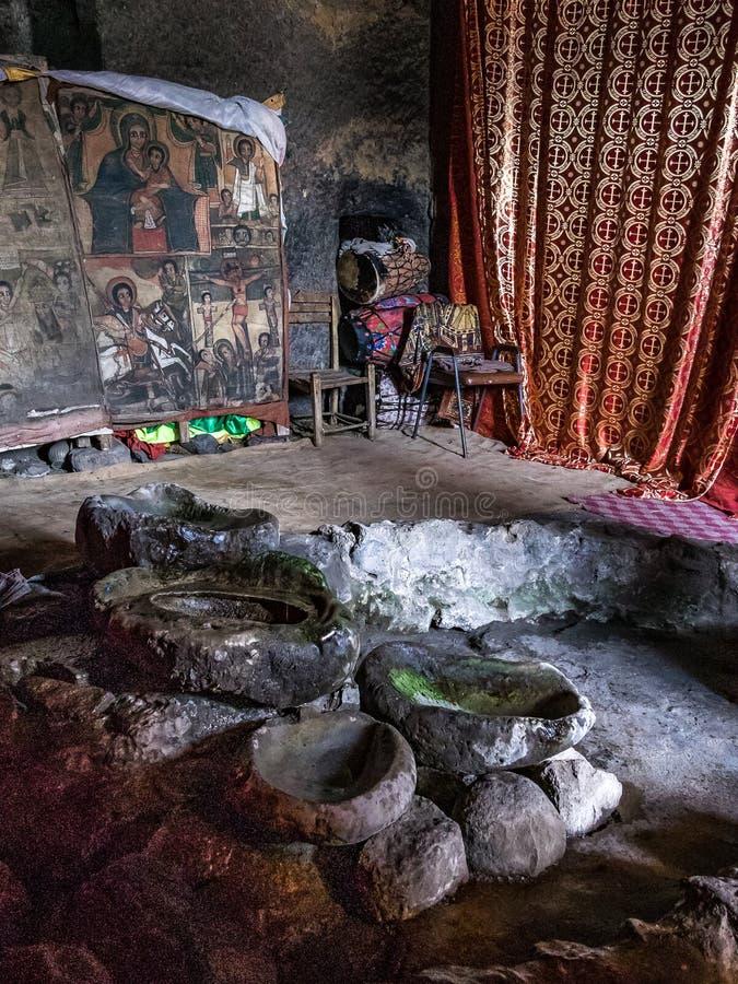 Monastery Neakuto Leab near Lalibela in Ethiopia royalty free stock photo