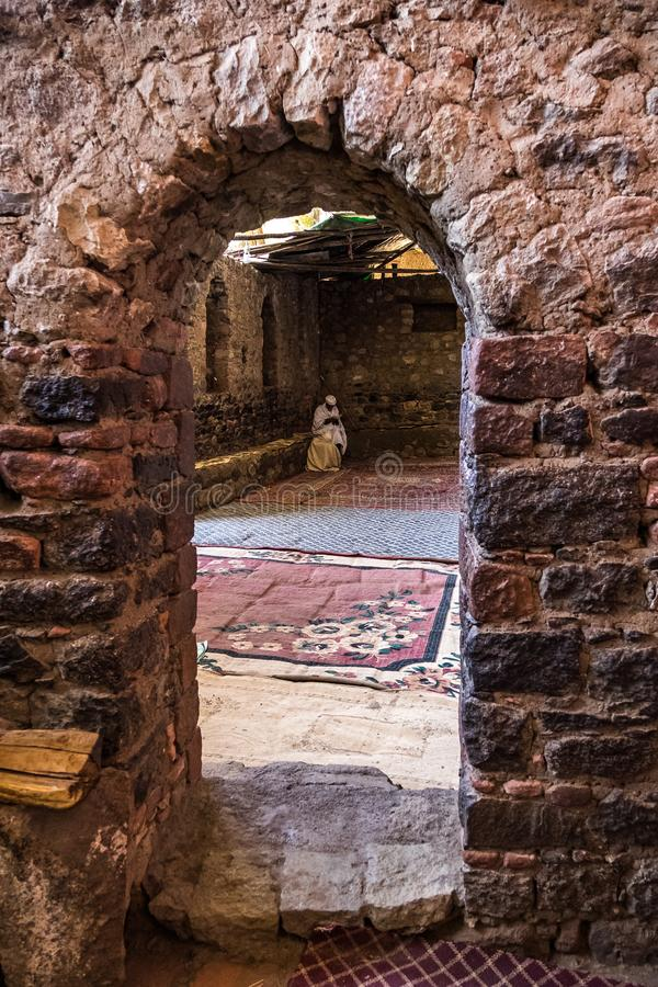 Monastery Neakuto Leab near Lalibela in Ethiopia stock photo