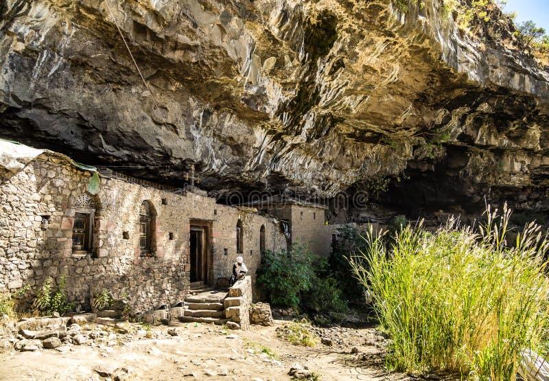 Monastery Neakuto Leab near Lalibela in Ethiopia royalty free stock images