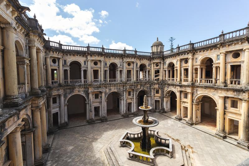 The Monastery of the Order of Christ. Tomar, Portugal, abbey, ancient, architecture, building, carving, castle, cathedral, catholic, catholicism, christian royalty free stock photo