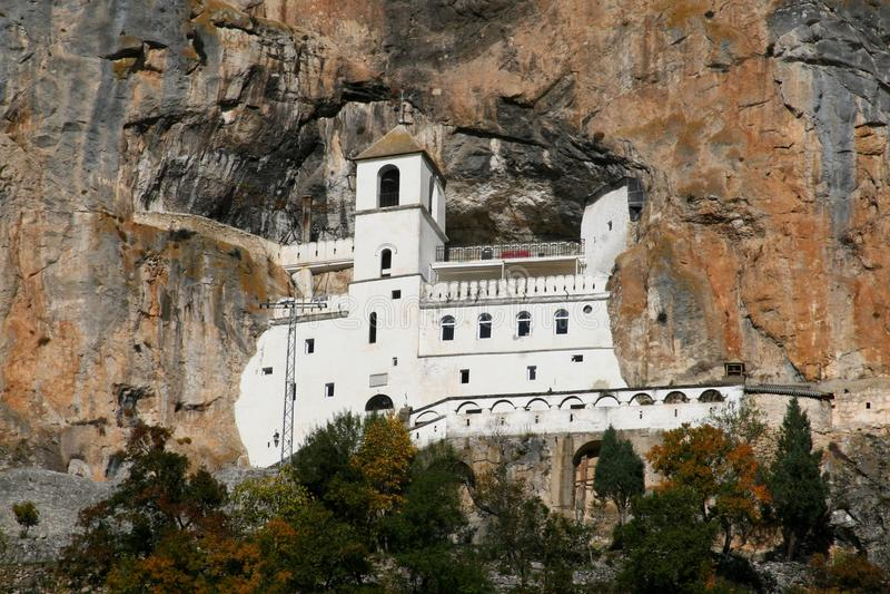 Monastery Ostrog royalty free stock photography