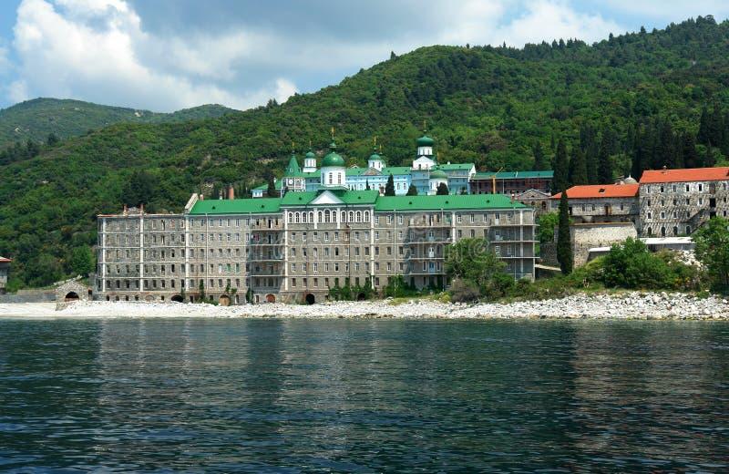 Monastery Panteleimonos royalty free stock image