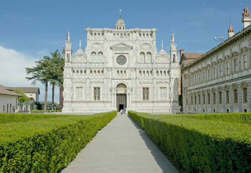 Monastery Of Pavia, Italy Stock Images