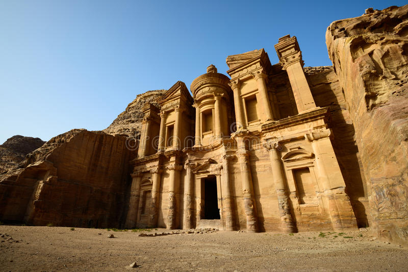 Download Monastery at Petra stock photo. Image of arabia, archeology - 37119924