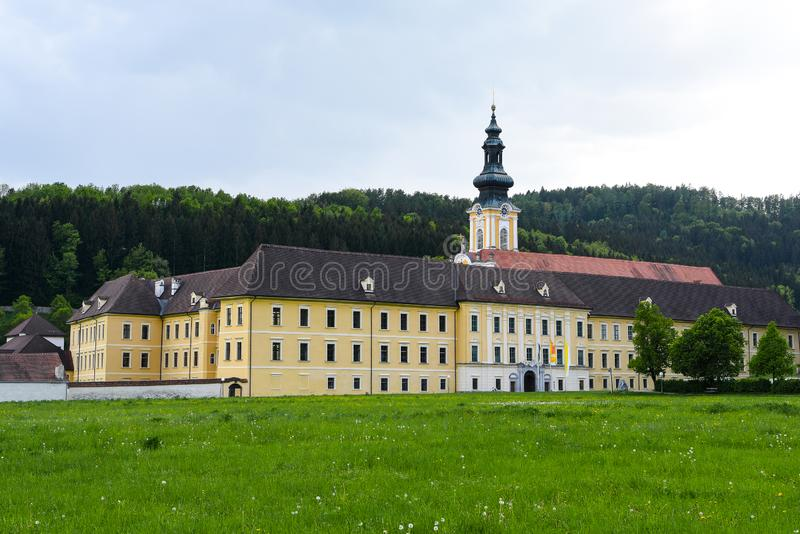 Monastery of Rein in Austria - The oldest Cistercian monastery of the world. Established in 1129  is it in operation since the founding year.  since it s stock photography