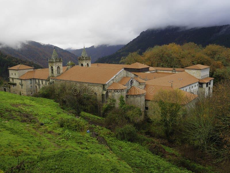 Monastery of the Ribeira Sacra stock photo