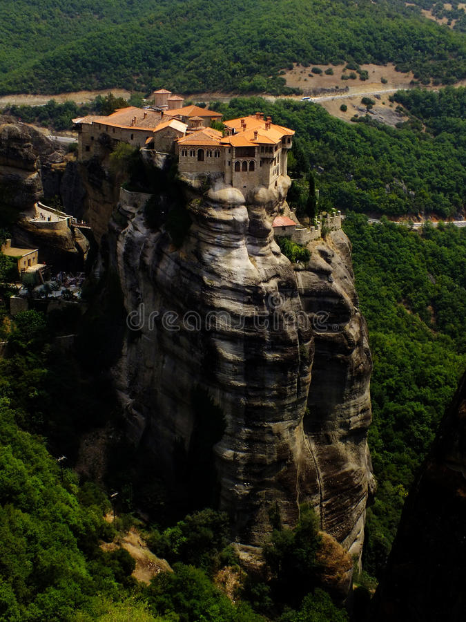 Monastery in the rock royalty free stock photos