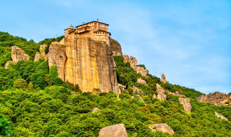 Monastery of Roussanou at Meteora in Greece stock image