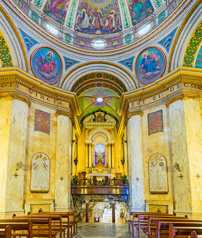 The Monastery's prayer hall stock photos