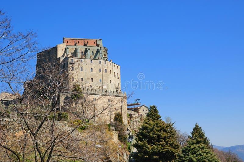 Monastery Sacra di圣米谢勒 免版税图库摄影