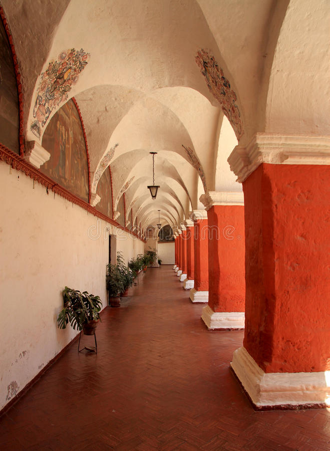 The Monastery of Saint Catherine (Santa Catalina), Arequipa, Peru royalty free stock photo