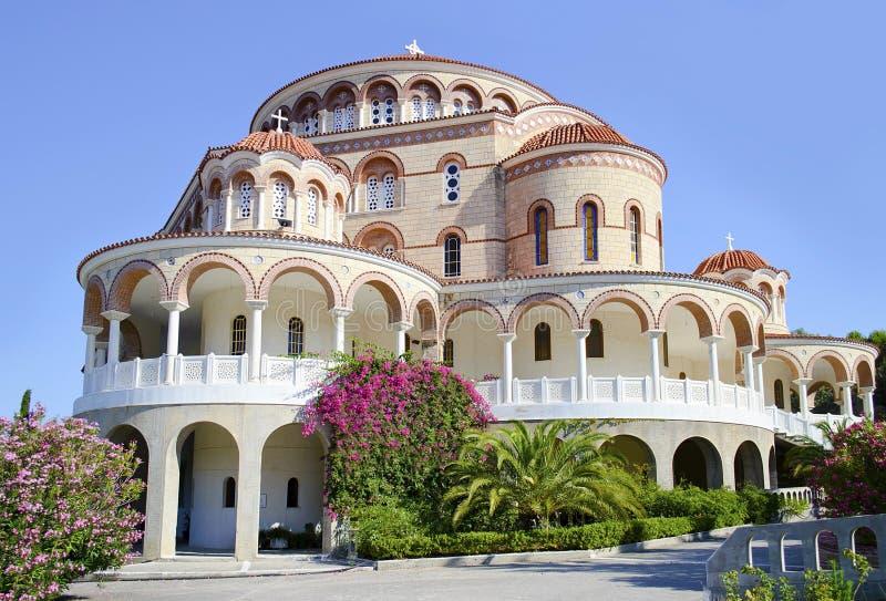 The Monastery of Saint Nectarios Greece royalty free stock photography