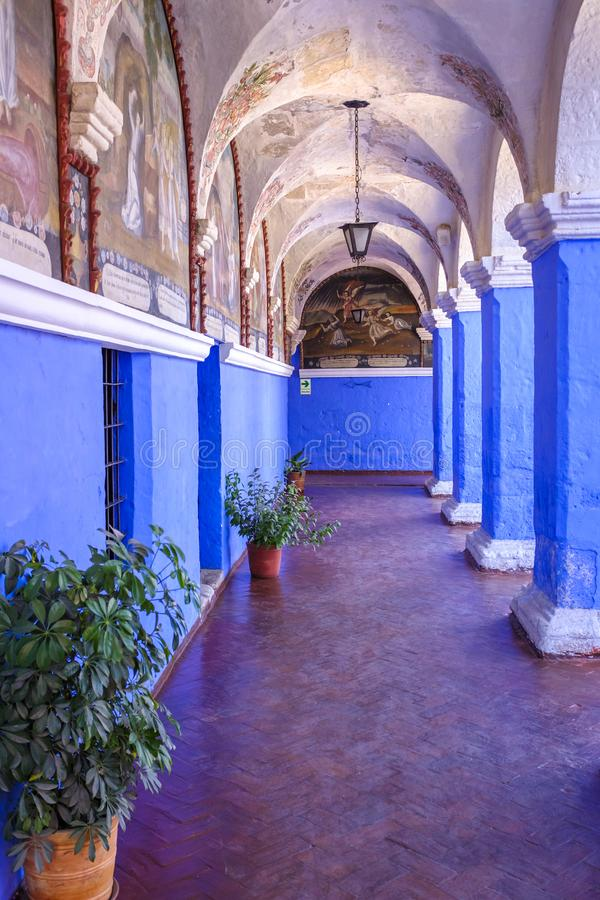 Monastery of Santa Catalina de Siena in Arequipa royalty free stock images