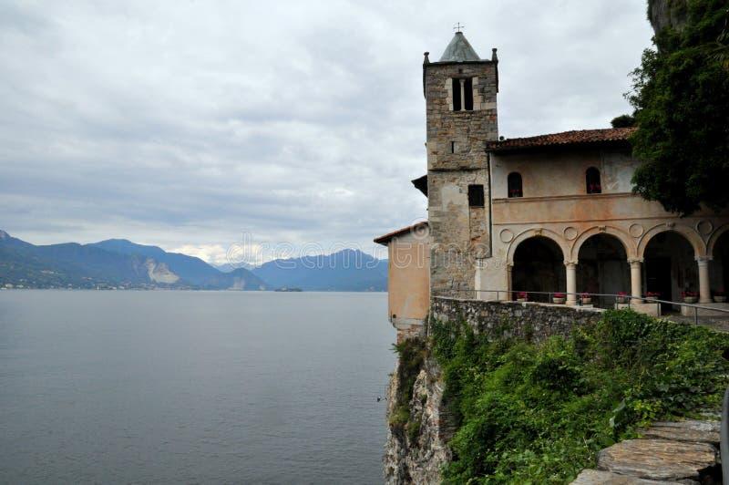 Monastery of Santa Caterina del Sasso royalty free stock photo