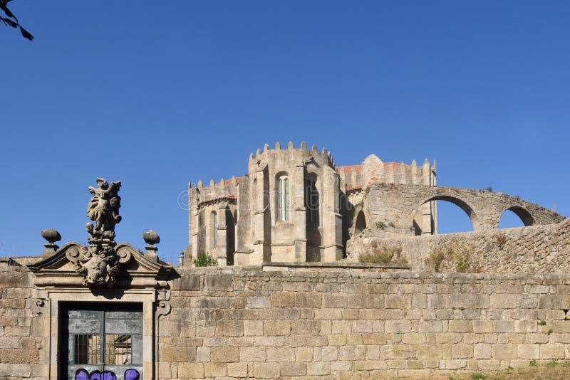 Aqueduct, Vila do Conde, Douro Region, Northern Portugal. Monastery of Santa Clara and Aqueduct, Vila do Conde, Douro Region, Northern Portugal royalty free stock photos