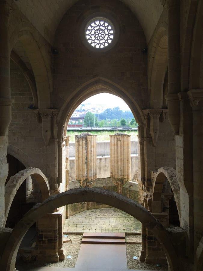 Monastery of Santa Clara-a-Nova New St. Clare stock photo