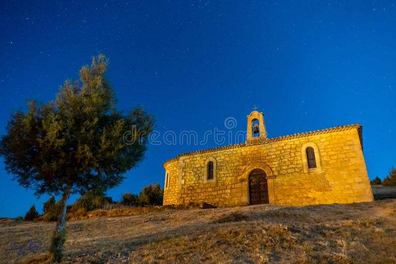 Monastery of Santo Domingo of Silos. Monastery of Santo Domingo de Silos, in Burgos, Spain, views of the monastery and surroundings stock photography