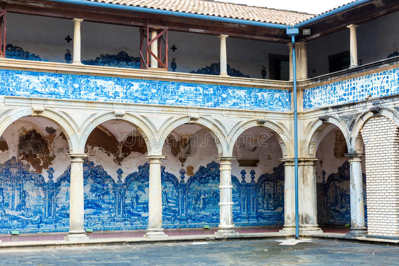 The Monastery of Sao Francisco in Salvador, Bahia, Brazil.  stock images