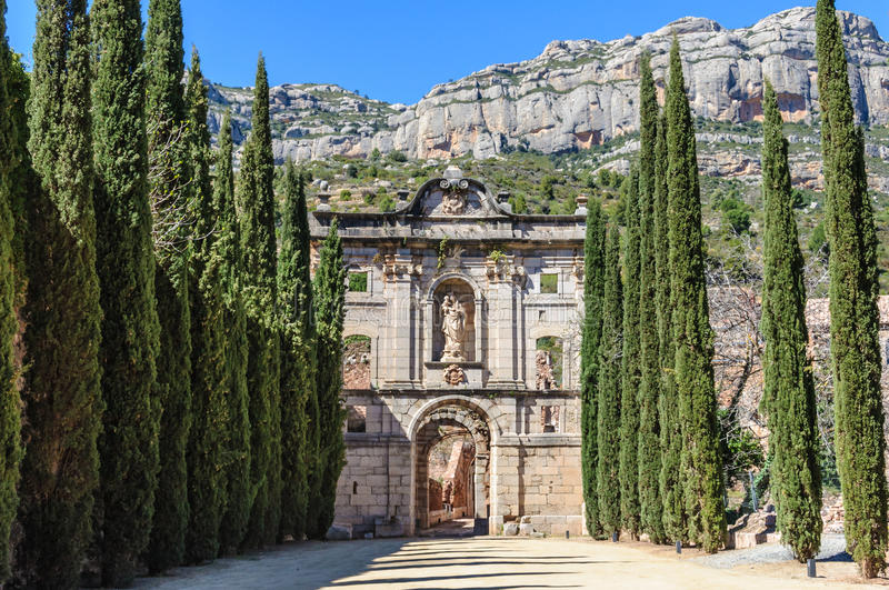 The monastery of Scaladei in Catalonia, Spain stock photography