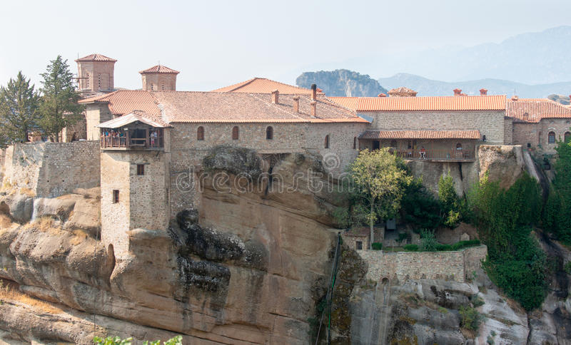 Monastery of St. Varlaam in the Greek Meteora stock photo