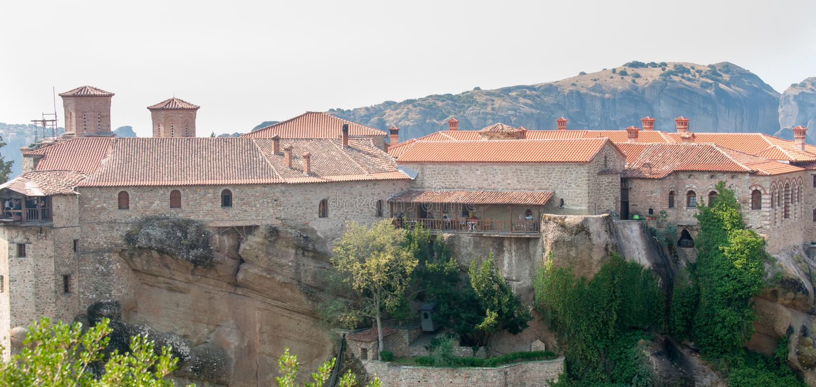 Monastery of St. Varlaam in Meteora. Greece stock photos