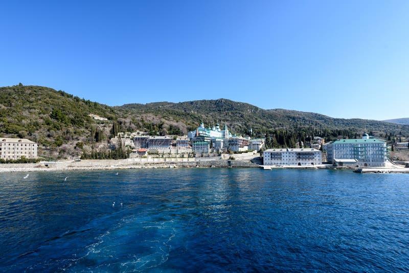 Monastery of St. Panteleimon on Mount Athos. Monastery of St. Panteleimon on Mount Athos stock photo