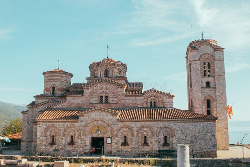 Monastery of St. Panteleimon - Ohrid, Macedonia. Saint Panteleimon is a monastery in Ohrid, Republic of Macedonia situated on Plaošnik. It is attributed to stock image