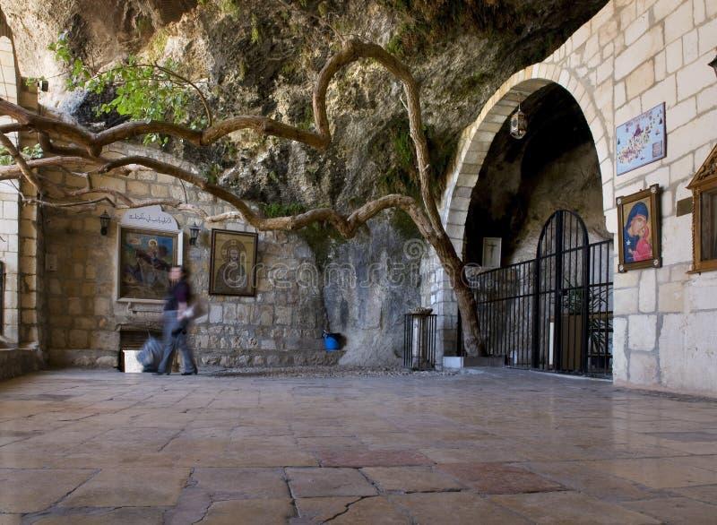 The monastery of St Thekla royalty free stock image