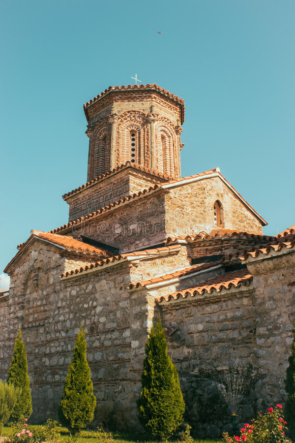 Monastery of Sv. Naum - Ohrid, Macedonia. Macedonian orthodox monastery of Saint Naum in Ohrid, Macedonia. It is situated along the lake Ohrid and is one of the royalty free stock photo