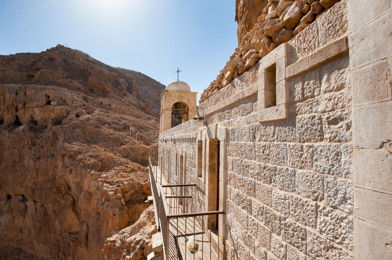 Monastery of the Temptation stock images