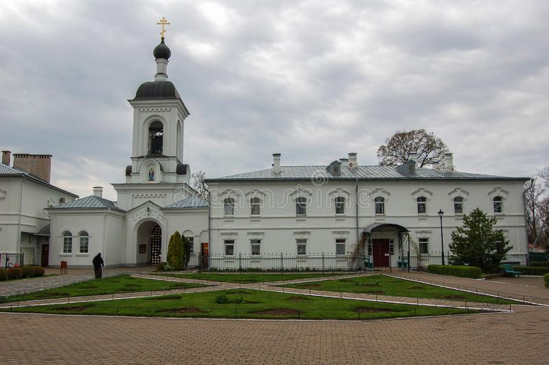 The monastery in the town of Novopolotsk Belarus. Spring royalty free stock photo