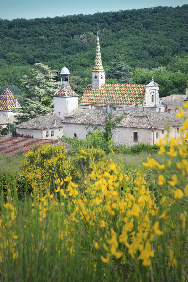 Monastery of Valbonne in Gard Provencal, France stock photography