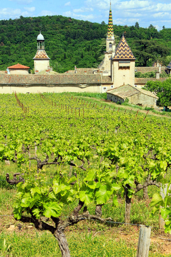 Monastery of Valbonne in Gard Provencal, France stock photos